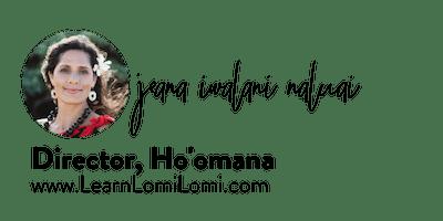 Signature of Kumu Jeana Iwalani Naluai