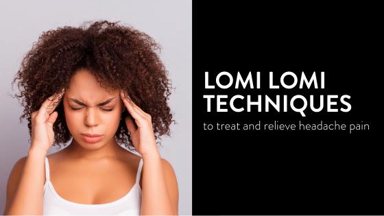 Woman holding head with headache