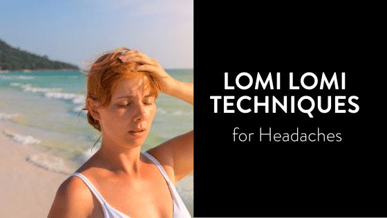 woman on the beach with headache